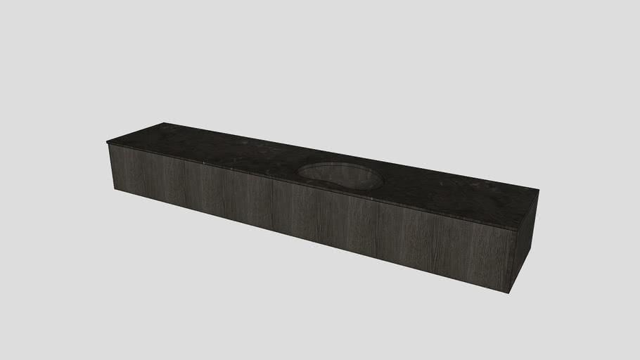 Wall-mounted modular system in Pietra d'Avola limestone | Salvatori | Anima L60cm modules