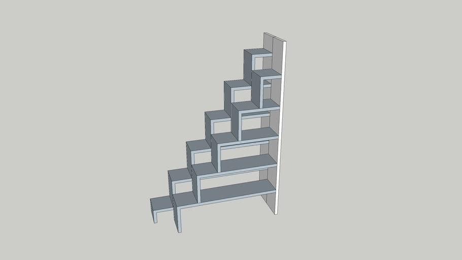 Alternating Stair Shelves