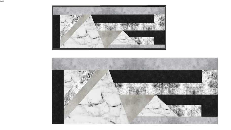 Quadro Urban Arts _ formas concretizadas _ panoramico