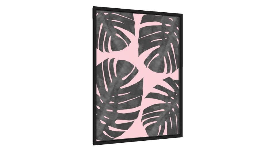 Quadro Tropical e rosa - Galeria9, por Arte Natural