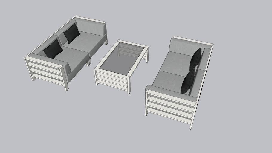 Set furniture design outdoor
