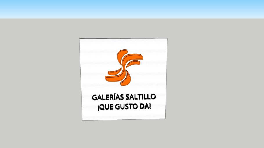 Logo en 3D de Galerías Saltillo