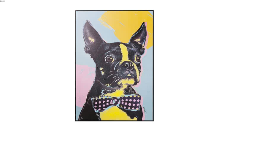 61547 Picture Touched Monsieur Toto 102x72cm