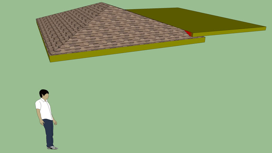 Low Slope Roof Addition to Hip Roof