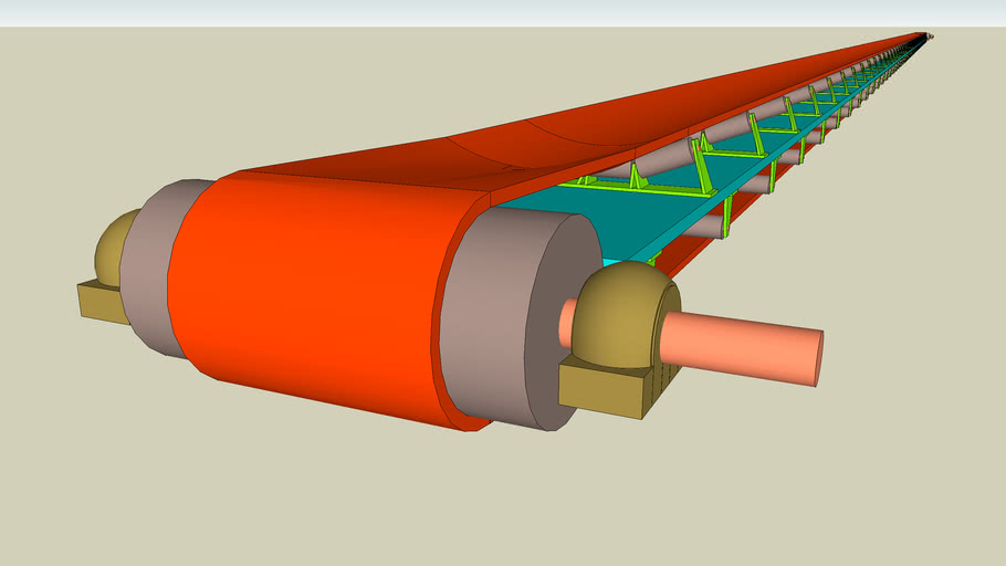 3D MODEL OF A BELT CONVEYOR