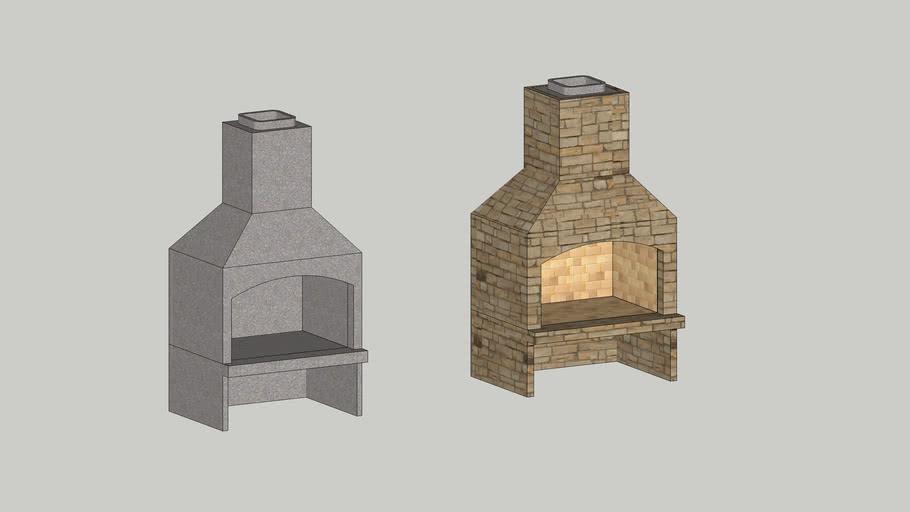 "Stone Age 48"" Standard Series Fireplace Kit"