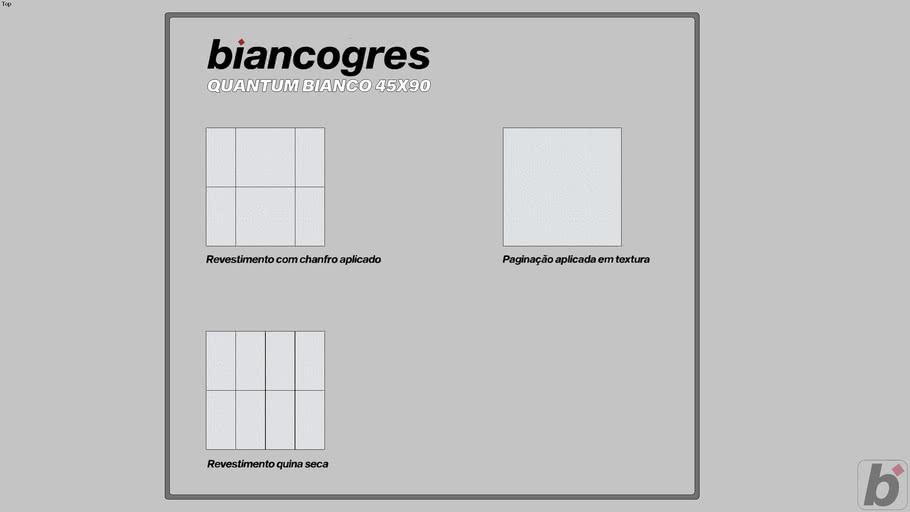 Quantum Bianco 45x90
