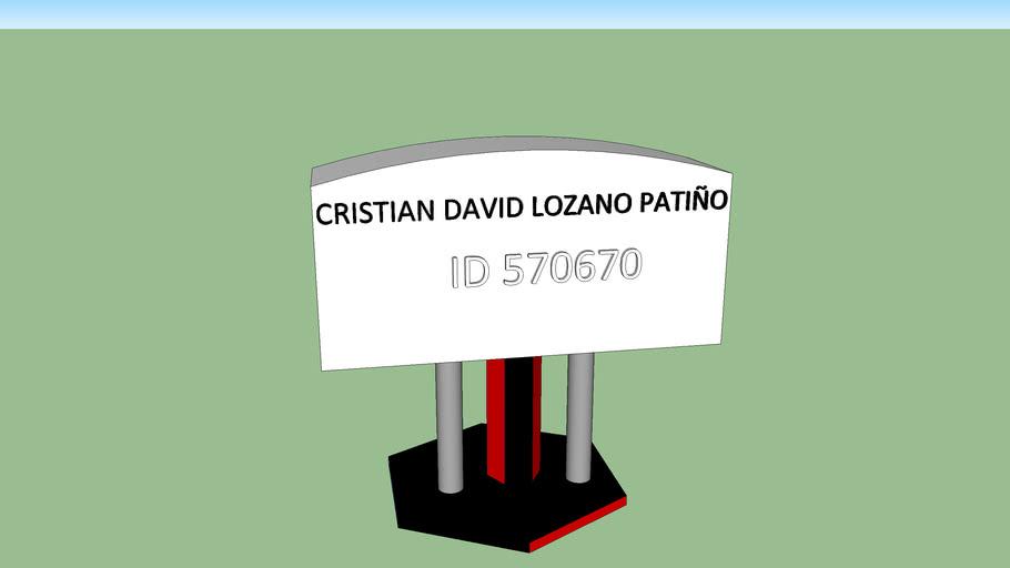 CRISTIAN DAVID LOZANO PATIÑO ID 570670