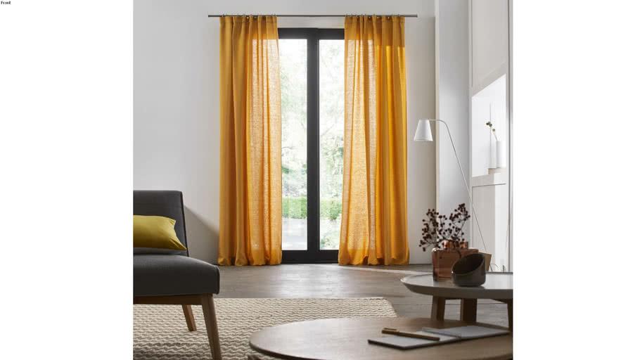 Pencil pleat curtain CARLINA by Madura Ocher / 99€ - 209€ TTC
