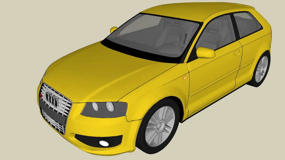 Audi S3 YELLOW V RAY