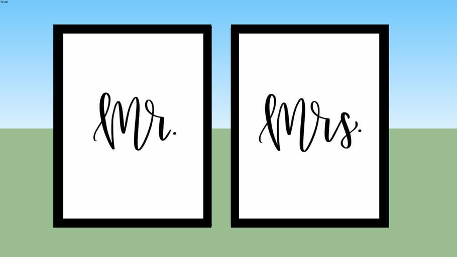 Quadro-Composição MR e MRS - Moldura Preta
