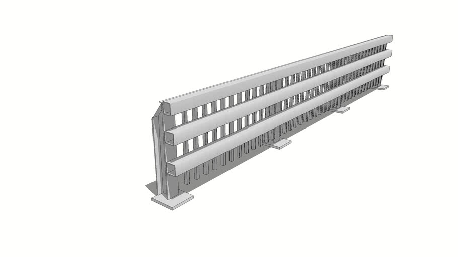 Railing - S3-TL4 Vehicle Barrier Assembly
