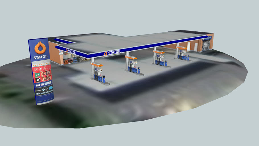 """Fuel&Retail station """"Mukusala"""", Latvia, Riga, Mukusalas street 75"""