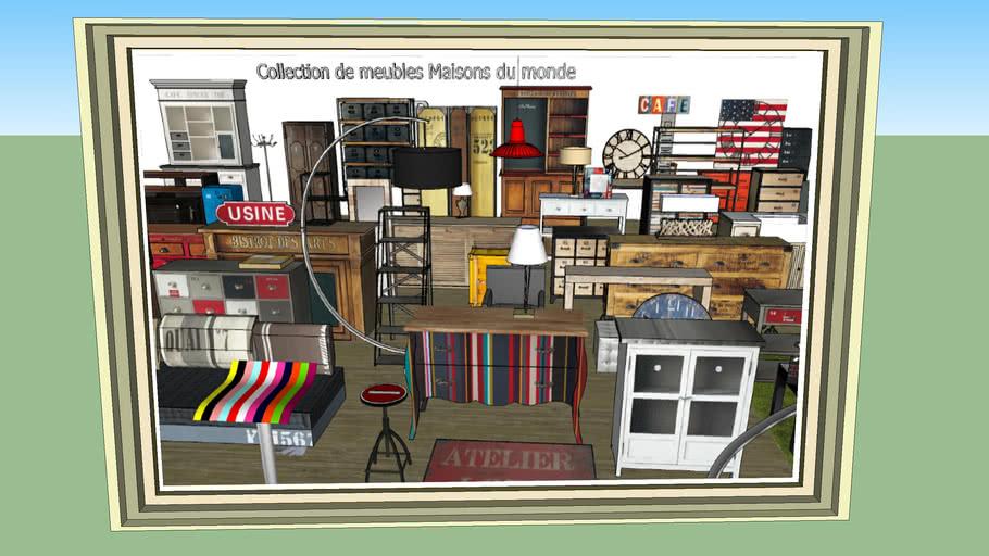 """Collection de meubles Maisons du monde...""""Le tableau de famille"""""""
