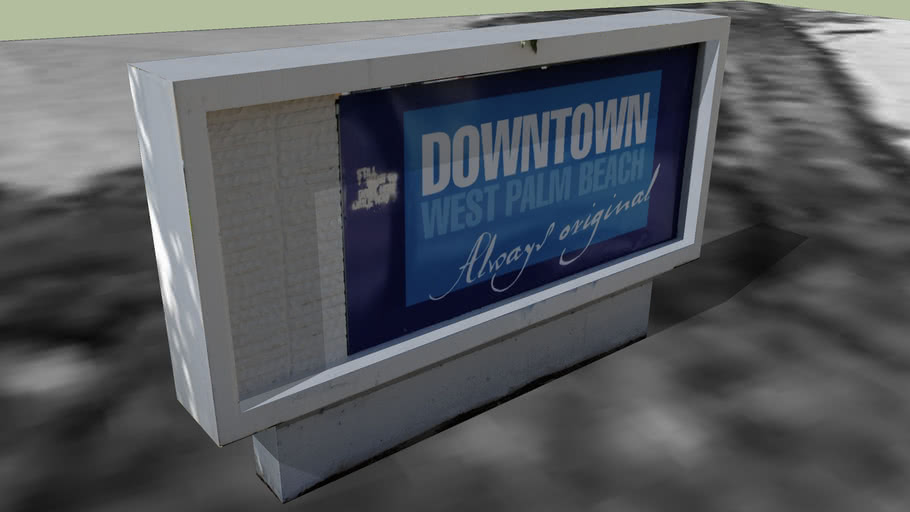 Downtown West Palm Beach sign