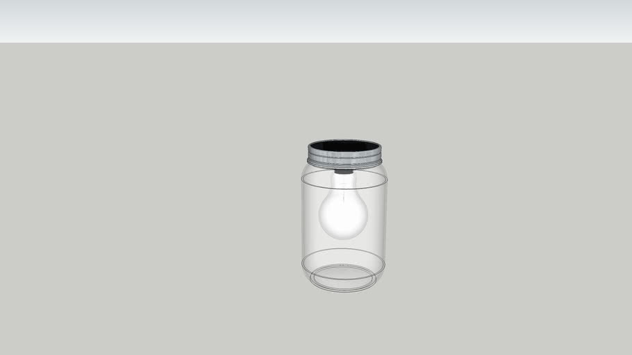 Solar light in jar