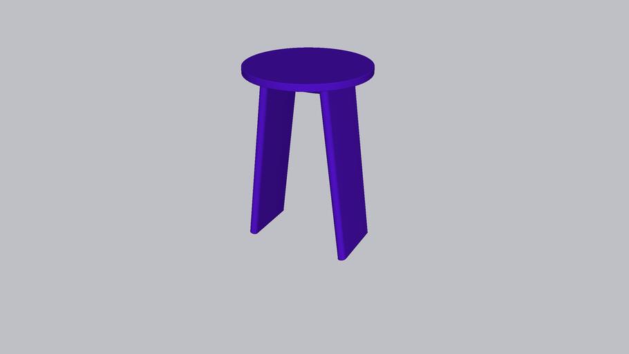 Tau L_Stool_Reflex Blue