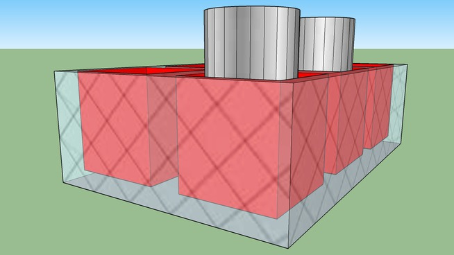 Box container for cylinders