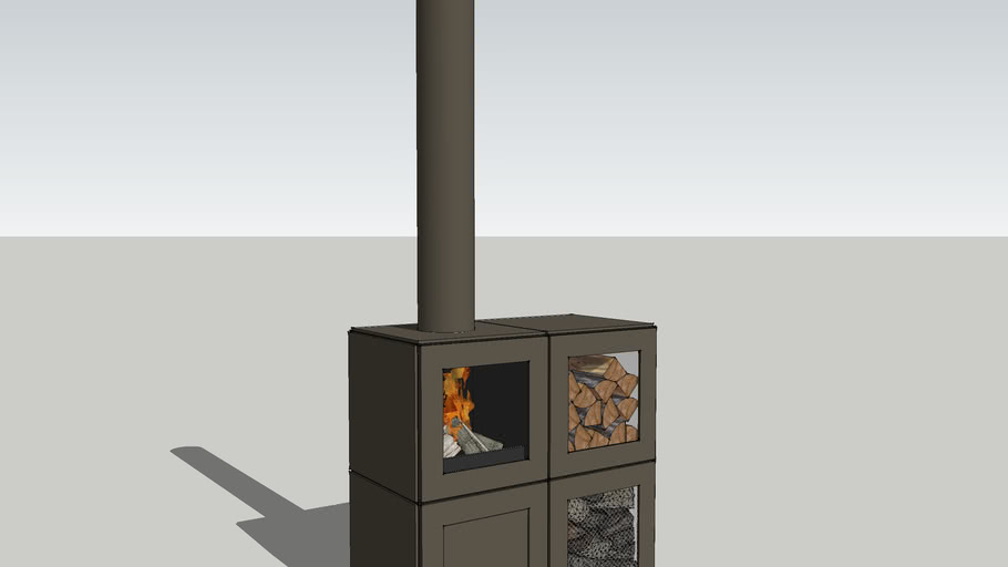 Speetbox by Philippe Starck - Fireplace