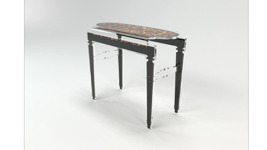 CONSOLE SIXTEEN LEOPARD CONTOUR NOIR Acrila Furniture