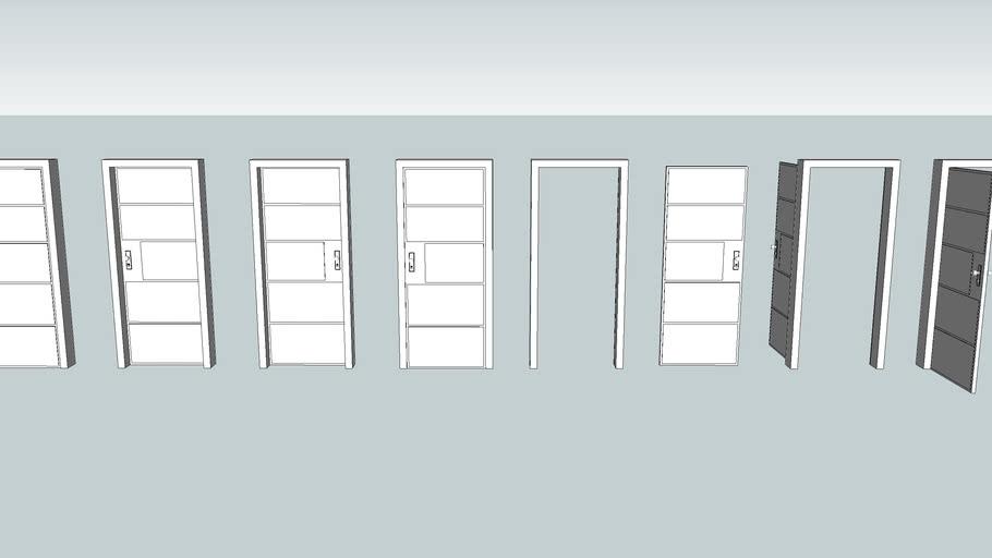 Conjunto de portas varios lados.