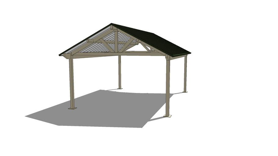 Gable - 20' x 28' with Architectural End