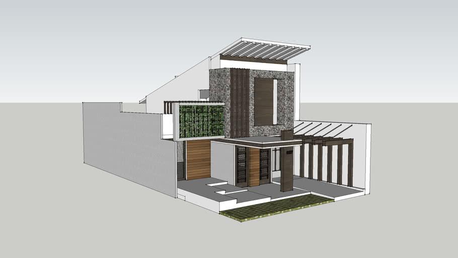 Rumah Dengan Atap Miring 3d Warehouse