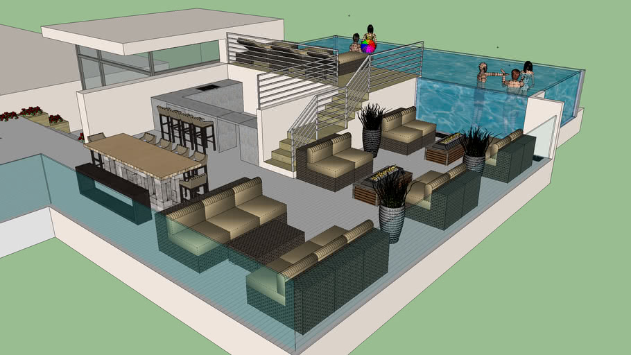 ROOFDECK WITH SWIMMING POOL
