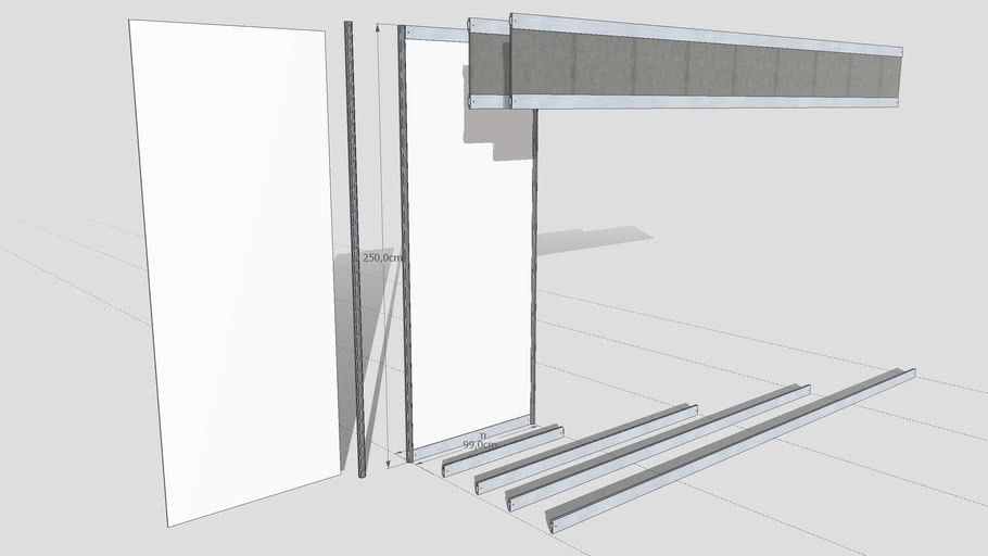 Modular system for exhibition stand