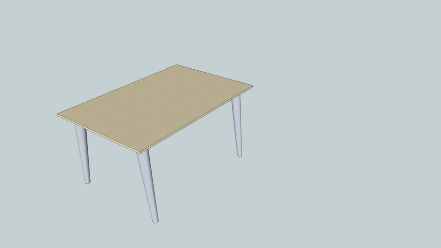 Bright wood table
