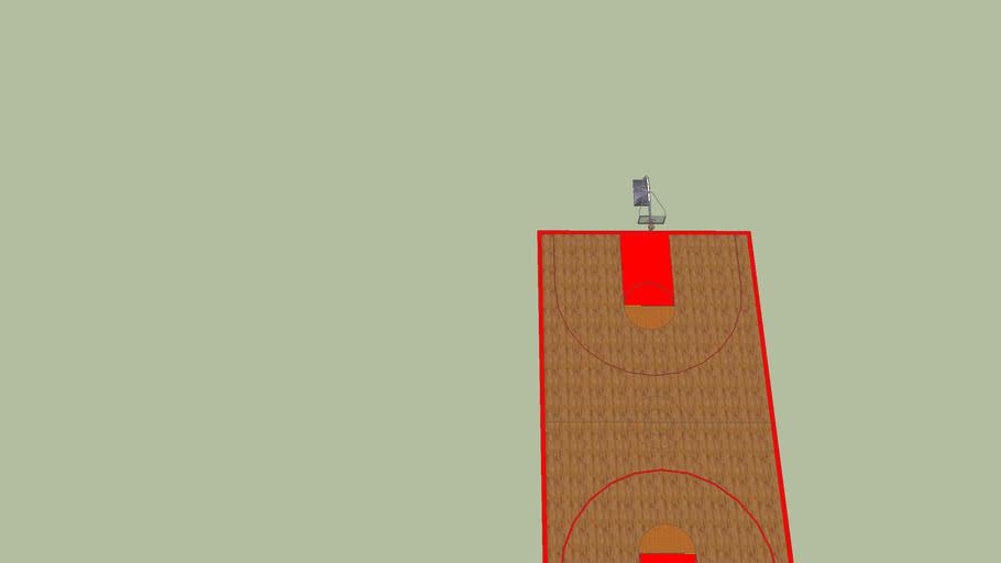 NBA regulation basketball court