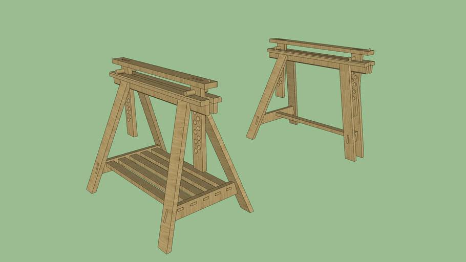 Tréteaux réglable en bois
