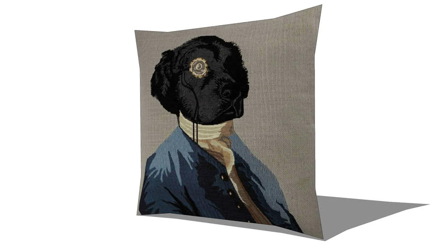Coussin chien 45 x 45 cm CHARLES REF 156340 PRIX 15.99€