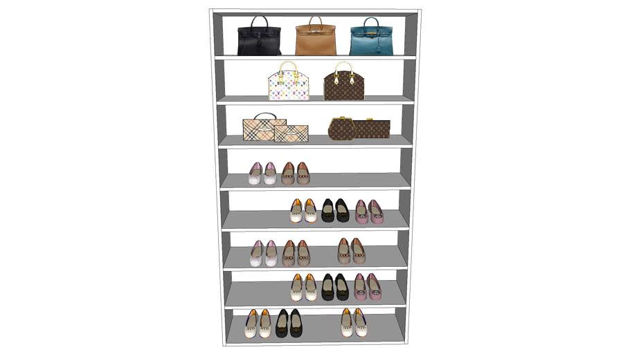 Shoe/Purse Display for Magic Hang Closet