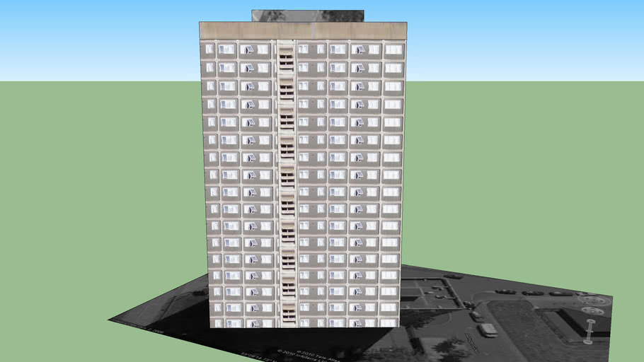 Residential Tower Block on Paddington Close/Broadwalk, Manchester.