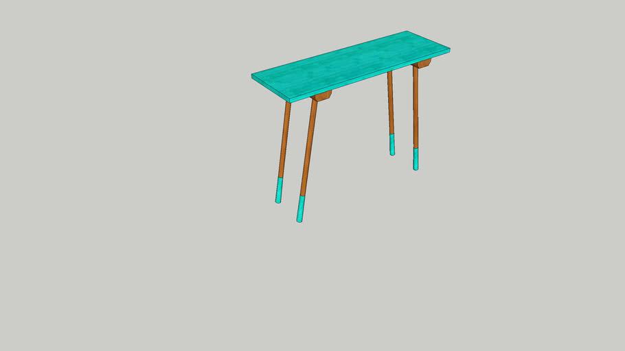 blauwe tafel Evy