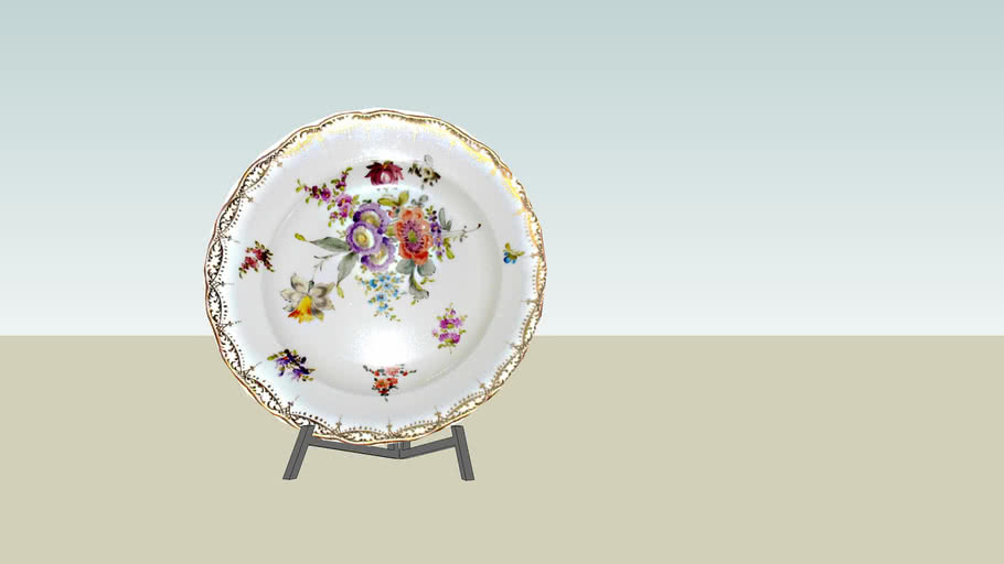 Plate of Meissen porcelain.
