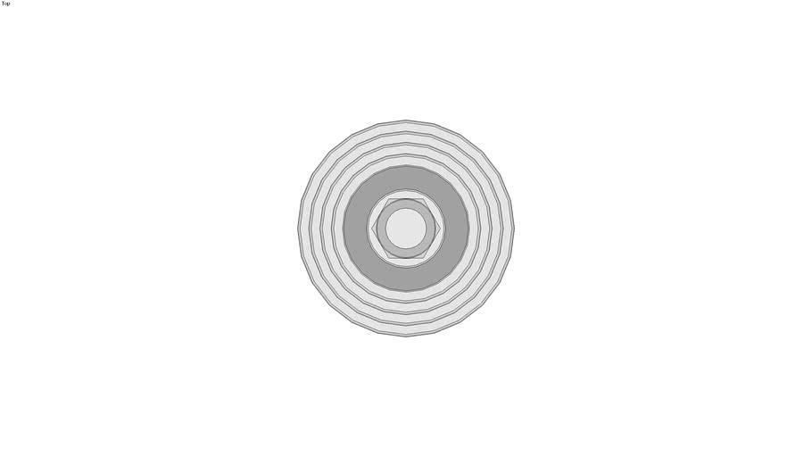 Pied technopolym�re � tige filet�e acier - Sans disque antiglisse - Avec �crou
