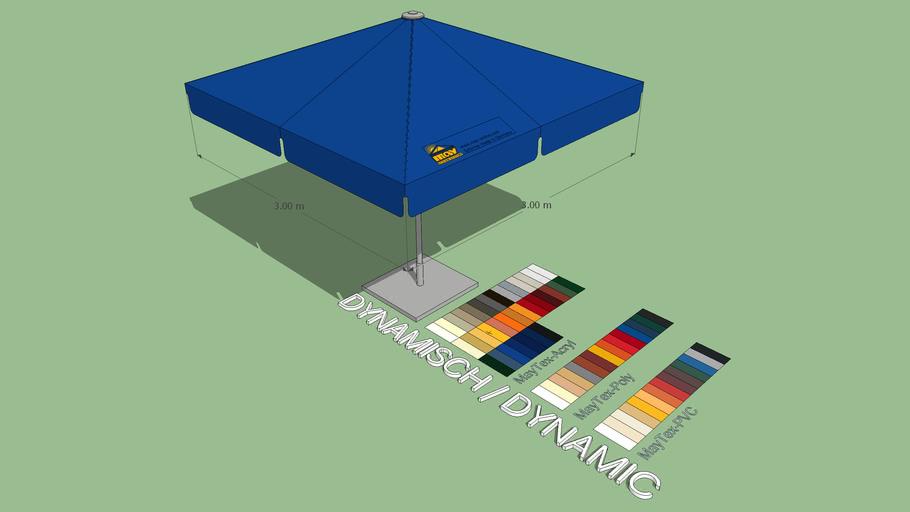 May Filius 3x3m Square Market Umbrella