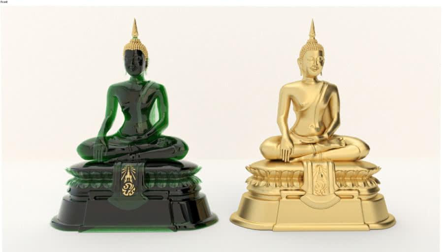 Buddha Statue ( Jade & Gold )