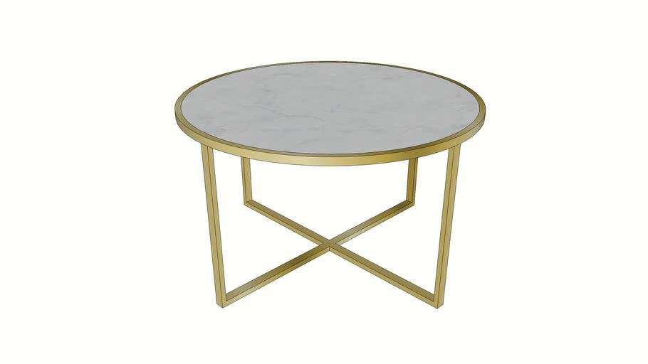 84844 Coffee Table West Beach Brass 80cm