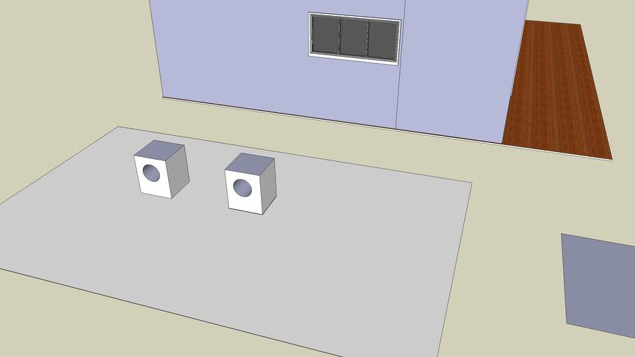 cubo con cilindro