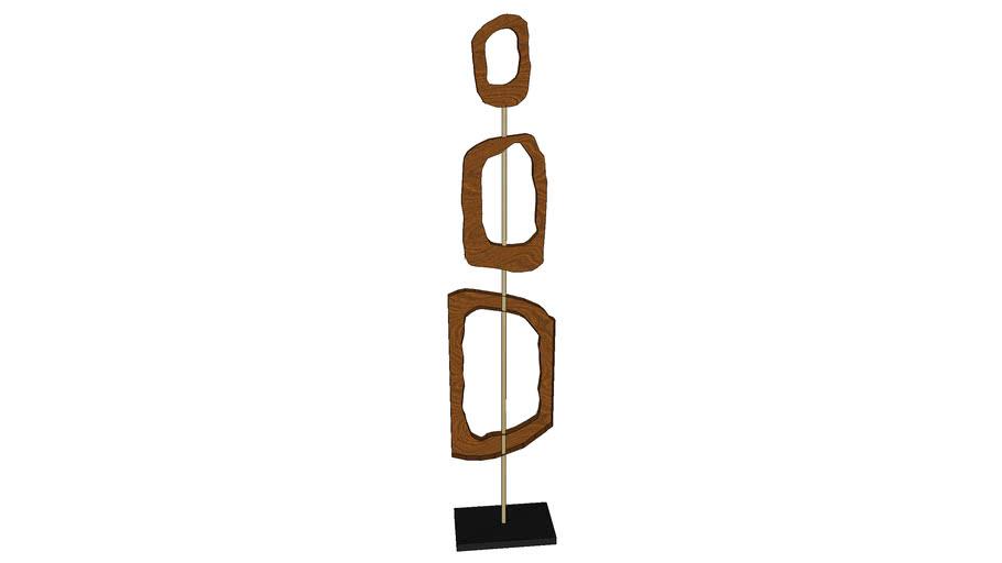 tall wood sculpture art