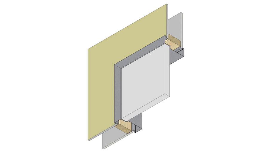 Single Rebate Door Frame - Rendered Corner Detail