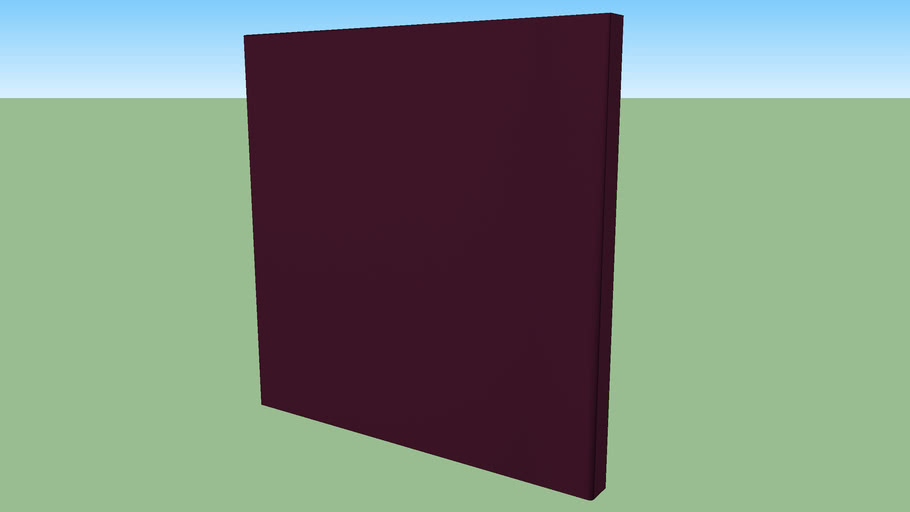 "echoshield™ Standard 2' x 2' x 2"" Acoustic Panel - Burgundy DiamondWeave"