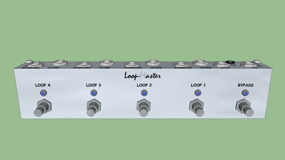 Loop-Master 4 Channel Effects Switcher w/ Master Bypass