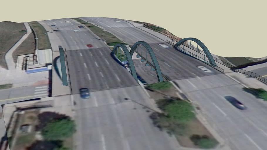 Speer over Little Raven Bridge