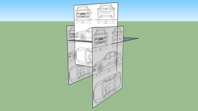 Audi A6 Blueprints