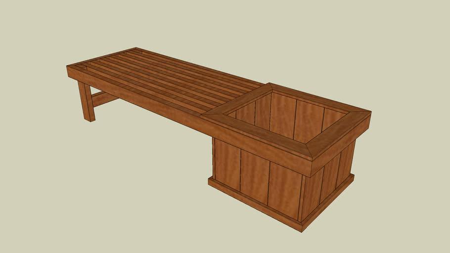 Planter Bench Seat