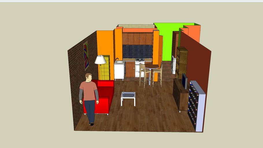 Martika's flat